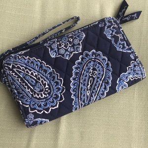 Vera Bradley Wristlet/Wallet In Blue Bandana